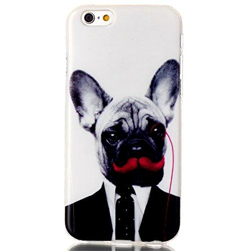 iPhone 6 Coque, iPhone 6S Coque, Lifeturt [ Pivoine ] Housse Anti-dérapante Absorbant Chocs Protection Etui Silicone Gel TPU Bumper Case pour Apple iPhone 6s / iphone 6 4.7 inch E02-M. chien15163