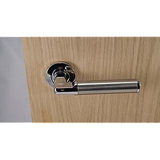 5 X Milan Door Handle Latch Set (Polished Chrome & SSS)