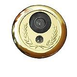 WJTZ-FYH Mirilla de seguridad mirilla de ojo de gato, timbre de la puerta dos en uno con el ojo antirrobo metálico de la puerta, Φ35-40mm, A3