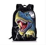 KHDJH Zaino per bambini Cool Jurassic World Dinosaur Scuola Sacchetto Set Per Adolescenti Ragazzi 3d Studente Bambini Scuola Primaria Bambini Zaino U U