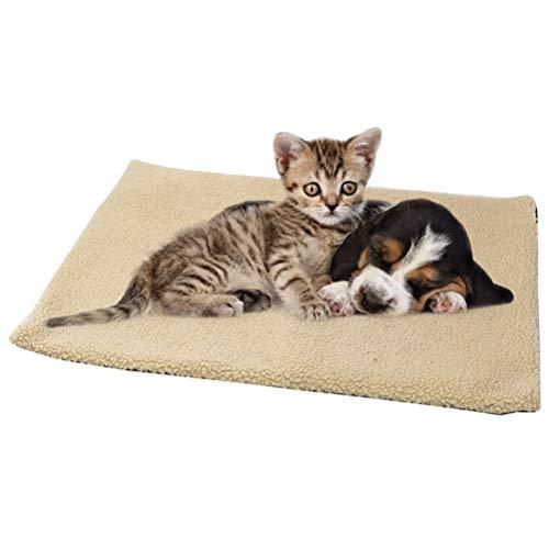 Selbstwärmende Katzendecke Haustierdecke Hundematte Waschbar Thermodecke Wärmematte Decke für Katze Hunde 60 * 45 CM