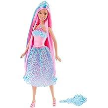 Barbie DKB61 Dreamtopia - Principessa Chioma da Favola, Celeste