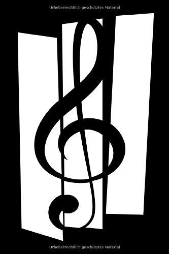 Notenheft: 6x9 Zoll (ca. Din A5) - Leeres Notensystem - blanko Notenzeilen - 120 Seiten -blank- Violinschlüssel für Musiker und Dirigent