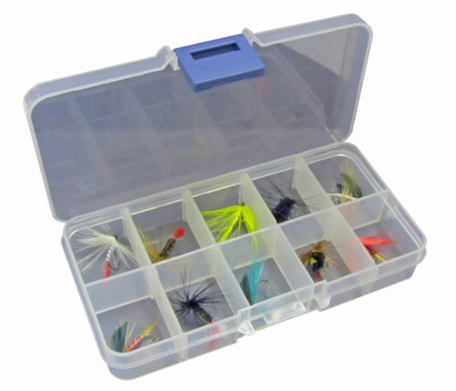Fladen - Confezione da 10 mosche da pesca, assortimento