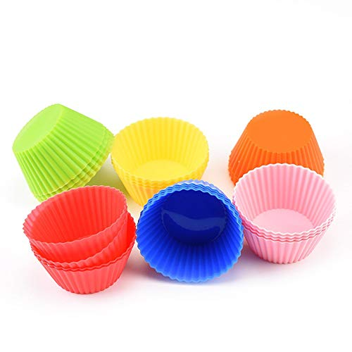 Cup Craft Kit (Rich overnight Home Dekorationen 24 Pc Kitchen Craft Decors Tool Kits Cup Chocolate Liners Backen Cupcake Cases Muffin 7Cm)