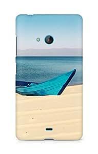 Amez designer printed 3d premium high quality back case cover for Microsoft Lumia 540 (Ship)
