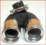 Ulter/Montii Doppelendrohr 2 x 60 mm,451 Bj 4.2007-10.2010 für Benziner (kein TURBO 84 PS) Edelstahl,mit Absorber Mit ABE