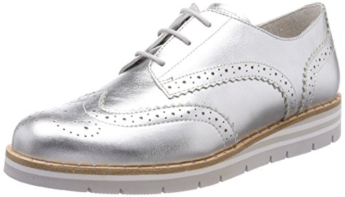 Gabor Shoes Damen Comfort Sport Derbys, Mehrfarbig (Silber (S.Nieten)), 40 EU
