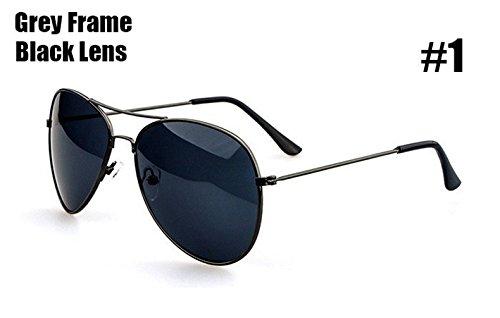 Aprigy Fashion Aviator Stil Sonnenbrille f?hrt M?nner Frauen klassischer Weinlese-Metallrahmen-Gl?ser