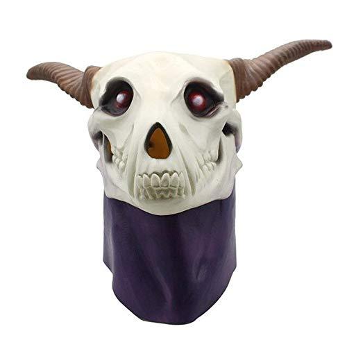 Dodom Realistic Kostüm Latex Cute Sheep Mask Tier Ziege Maske voller Kopf für Adult Maskerade, weiß