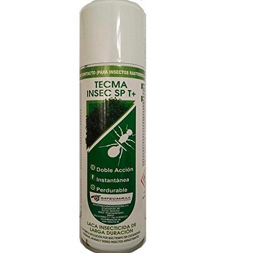 Laca insecticida para eliminar cucarachas y otros insectos rastreros con efecto inmediato y de larga duración TECMA INSEC SP T+ (anticucarachas, anti hormigas, anti garrapatas, etc). Potente producto anti insectos de uso doméstico apto para uso interior y exterior