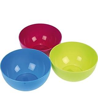 amara-global 3er-Pack Plastikschüssel rund 2,5 l Kunststoffschüssel Salatschale Schüssel
