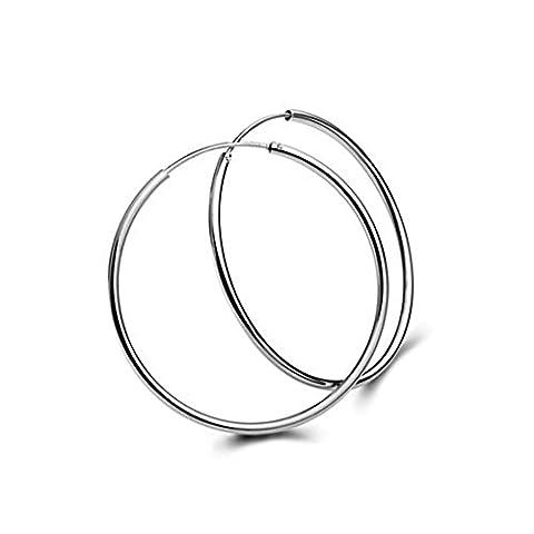925 Sterlingsilber-klassische 4.5cm Band-Ohrringe