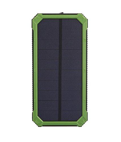 Dual USB Port Solar Ladegerät 10000mAh Portable Power Bank mit LED Taschenlampe für Handys und andere USB Geräte , green
