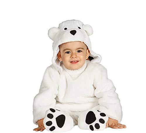 Baby Eisbär Polarbär Kostüm für Kinder Bären Kinderkostüm Bär Babykostüm Gr. 74-92, Größe:86/92