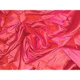 Khushali Paper Silk Plain (2 Tone) Fabric (6.5 Meter) (Baby Pink)