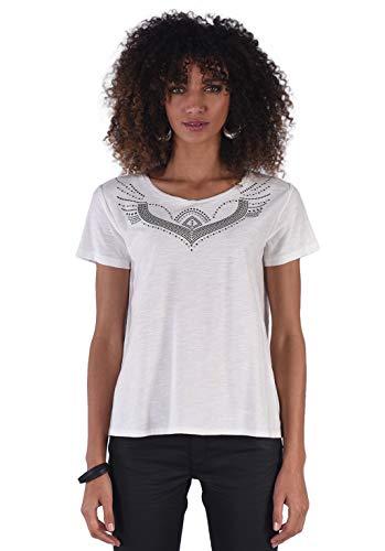 Kaporal - Tee-Shirt clouté 100% Coton - Taj - Femme - XL - Ecru