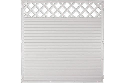 Sichtschutzzaun Kunststoff Gitter weiß 180 x 180 cm (Serie Juist)