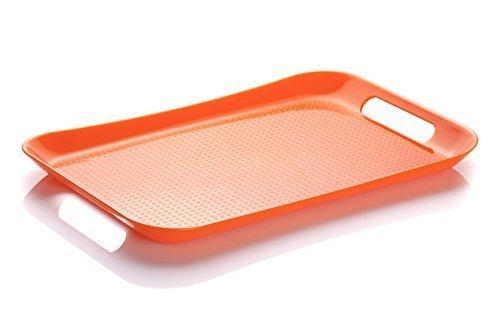 M-Design Vassoio Con Manici Di Plastica (39x27cm) - Senza BPA e DEHP, Campeggio, Barbeque, Party, (Design Vassoio)