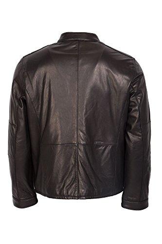 Sportive modische Lederjacke schwarz Trendmodell vom Lifestylelabel Trapper! Black