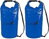AceCamp - Zaino impermeabile con tracolla, 10 l, 20 l, 30 l, 50 l, Doppelpack Blau, 30 litri