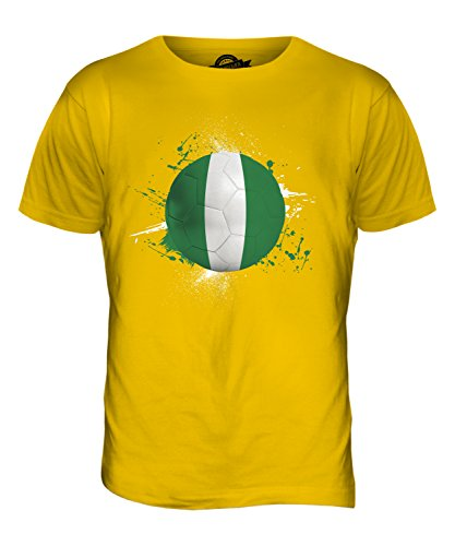 CandyMix Nigeria Fußball Herren T Shirt Dunkelgelb