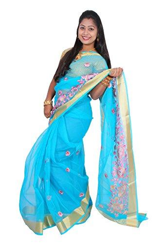Women Stylish Designer Saree (Yellow)