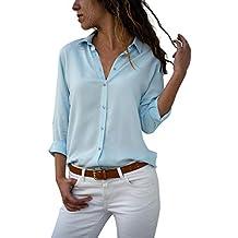 cheaper 106ee 4edbd Amazon.it: camicia seta donna - Blu
