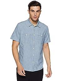 GAP Men's Icon Denim Worker Short Sleeve Shirt
