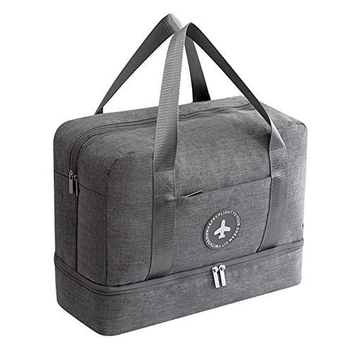 NNDQ wasserdichte Sporttasche, großvolumige Boarding-Tasche mit Schuhfach und Nasstasche für Herren, Damen