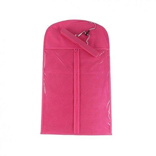 Sharplace Perücken Aufbewahrungsbeutel mit Aufhängung Haken Perücke Aufbewahrungstasche Anti-Staub - Rosa