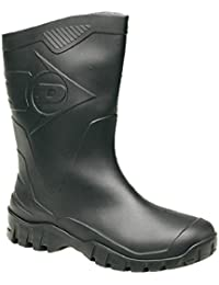 fcaaa64d744c3d Dunlop Half-Height-Wide Calf Short Welly (Black) (9 UK)