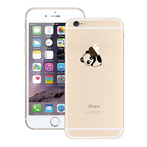 GrandEver iPhone 6/iPhone 6S Hülle Weiche Silikon Handyhülle Gel Transparent TPU Bumper Durchsichtig Schutzhülle für iPhone 6/iPhone 6S Rückschale Klar Handytasche Anti-Kratzer Stoßdämpfung Ultra Slim Panda Kopf Nach Unten