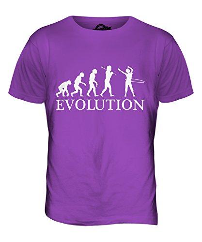 CandyMix Hula Hoop Evolution Des Menschen Herren T Shirt Violett