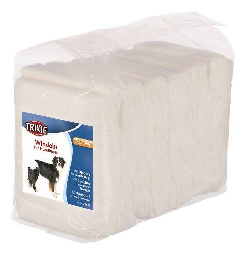 Trixie 23636 Hundewindel für Welpen, Läufigkeit, inkontinente Hunde und auf Reisen, XL, 12 Stück