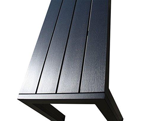 "KMH®, 4er Holzimitat Gartenbank ""Tuco"" 185 cm ohne Rückenlehne (B-Ware) (#106152) - 5"