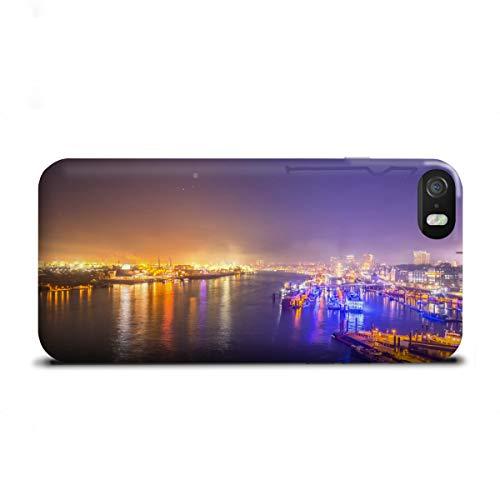 artboxONE Apple iPhone SE Premium-Case Handyhülle Hamburger Hafen XIV von Jan Hartmann