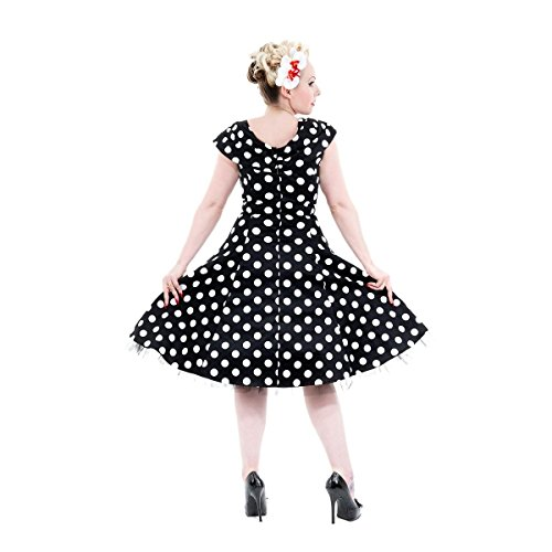 H&R London - Robe -  Femme Noir - Black-White