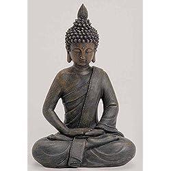 Deko Asia Jardín Figura de Buda Estatua Escultura Feng Shui 27cm Jardín Nuevo