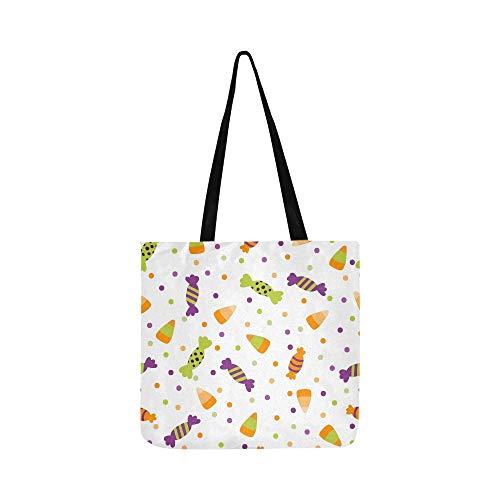 Vektor-Illustration nahtlose Muster Halloween Canvas Tote Handtasche Schultertasche Crossbody Taschen Geldbörsen für Männer und Frauen Einkaufstasche