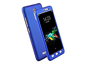 Tidel 360 iPaky Protective Body Case With Tempered Glass For Xiaomi Redmi Note 3(Blue)