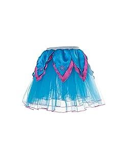 DREAMY DRESS-UPS 50444Aqua/Caliente Flor Rosa tutú Disfraz (Tamaño Mediano)