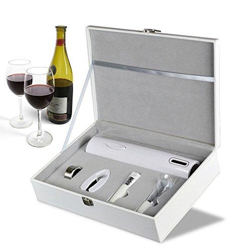 Hehh Tuoba Fish Vollautomatischer Weinflaschenöffner, Trockenbatterie Weinflaschenöffner, Weinset