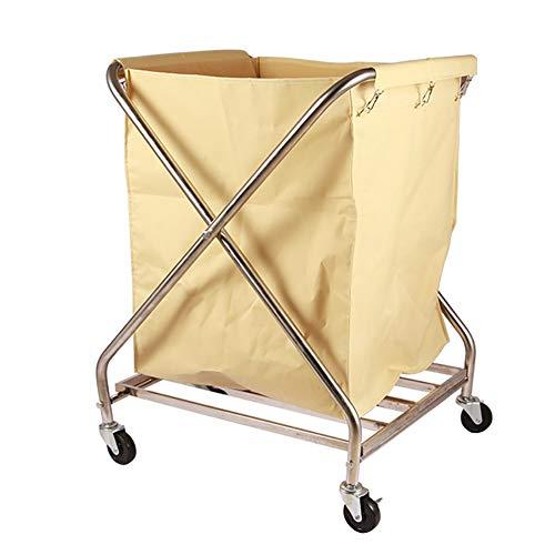 Küchenwagen Faltbarer Wäschewagen, Aufbewahrungseimer, schmutziges Handtuch, Faltbarer Wäschesammler und -organisator, Oxford-Taschen und Edelstahlrahmen