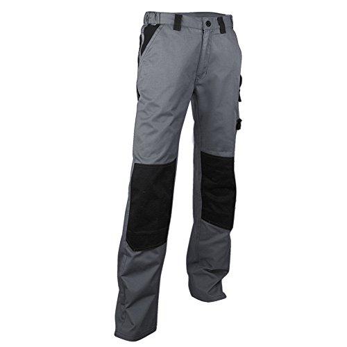 LMA 130300 PLOMB Pantalon avec Poches Genouillères, Gris/Noir, Taille 38