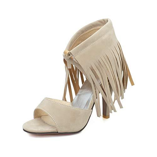 1TO9 MJS04022 Sandali Low-Top Peep Toe per Tutte Le Stagioni Donne Albicocca - 38.5 EU (Etichetta:39)