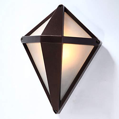 Diamant Im Freien Wasserdichte LED Wandleuchte Braun PMMA Hohe Lichtdurchlässigkeit Lampenschirm Glas Lampenschirm Wandleuchte Persönlichkeit Kreative Retro Villa Garten Gang Treppe Lampe Balkon Wandl