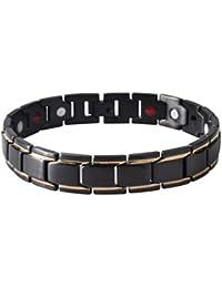 Gugutogo Hommes SL0068 titane acier santé énergie anti-fatigue bracelet bijoux cadeau