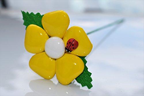 Margherita cuore - fiore di confetto - confetti pelino di sulmona (giallo limone)