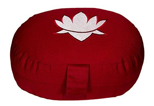 Meditationskissen / Yogakissen Lotus oval, B/T/H 28 x 23 x 13 cm, Bezug und Inlett 100% Baumwolle, Füllung: Buchweizenschalen, Bezug und Inlett maschinenwaschbar bis 30º C, bordeaux